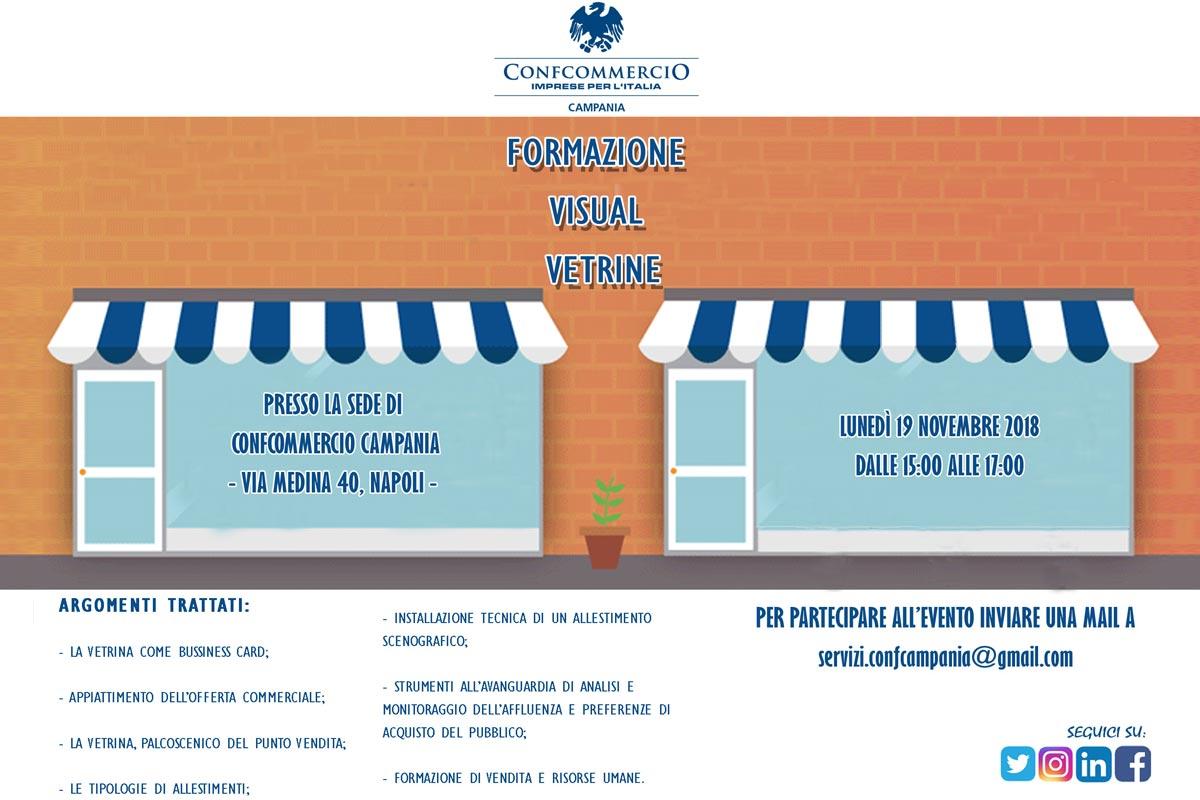 Formazione Visual Vetrine: evento di formazione gratuito promosso da Confcommercio Campania