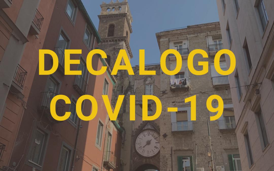 DECALOGO Antidiffusione Covid-19